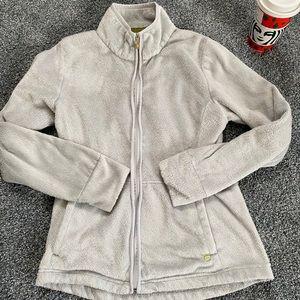 Light gray zip up sweatshirt
